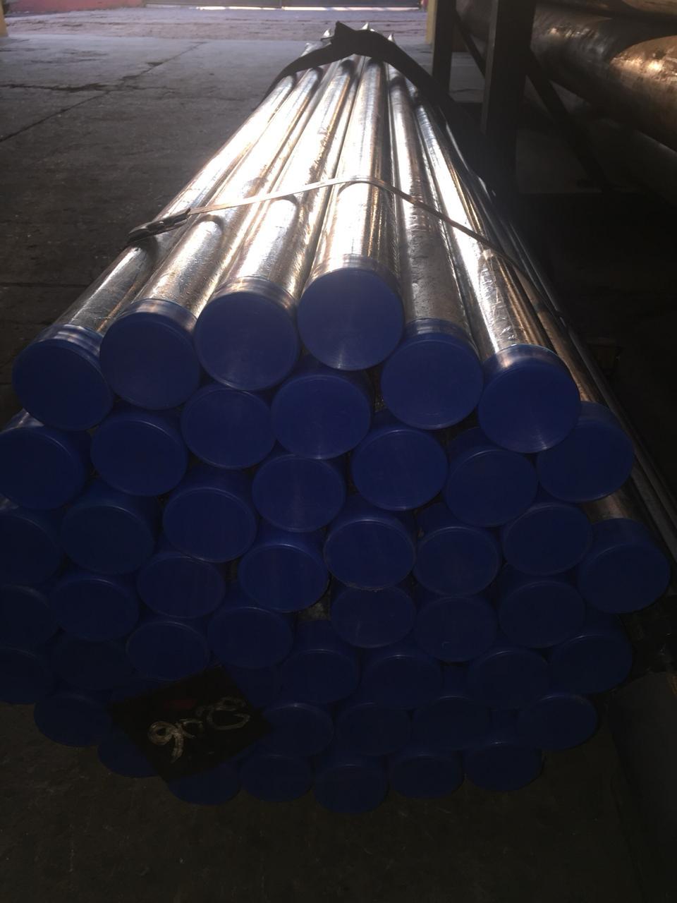 Coluna PP Galvanizada para sinalização vertical